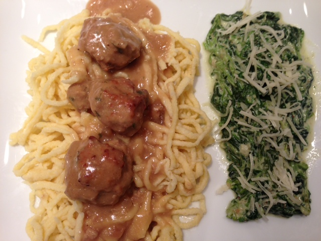 Veal Meatballs in a White Wine Sauce | Cecile's Cuisine