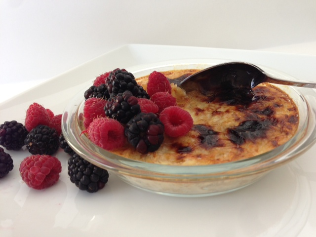 Creme Brulee Oatmeal with Fresh Fruit | Cecile's Cuisine